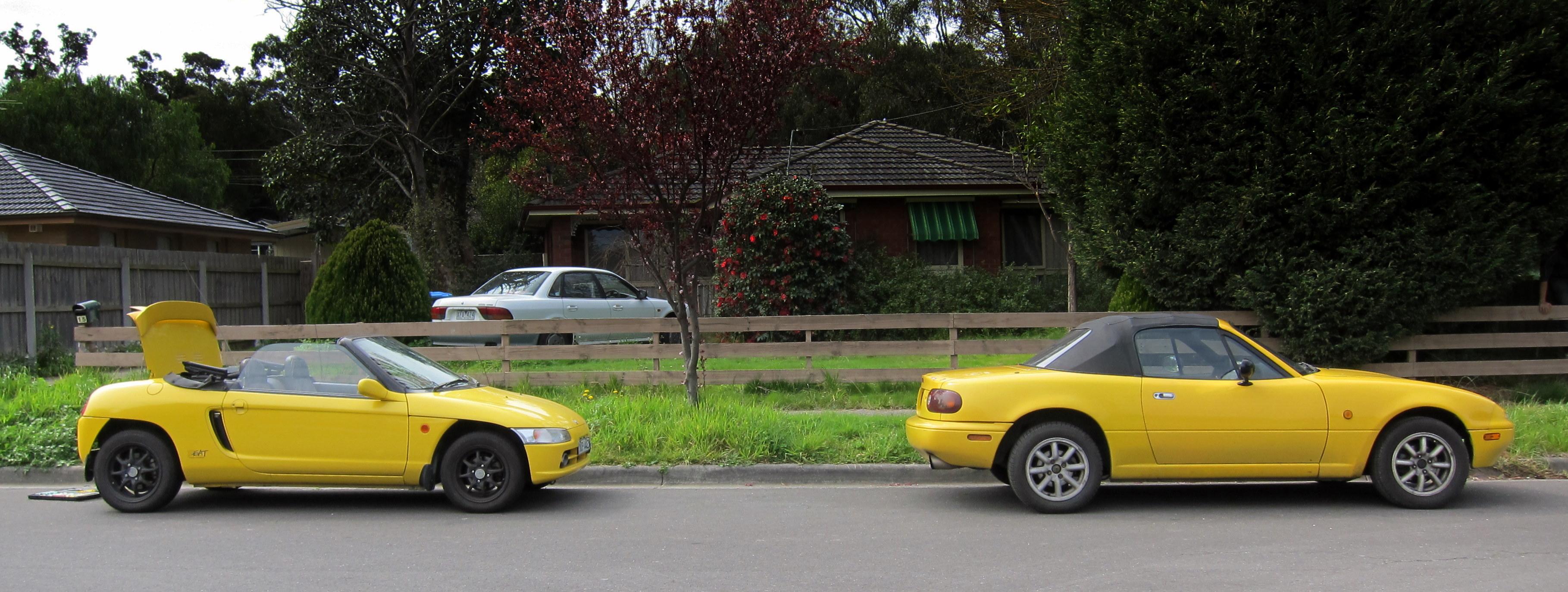 Honda Beat 2017 >> honda beat eunos roadster yellow convertibles   Noisy Ninja